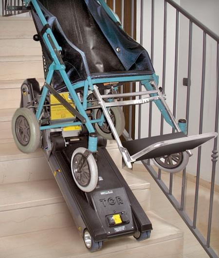 Schodołaz gąsienicowy junior - na schodach